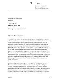 Eröffnungsansprache - Institut für Gegenwartskunst