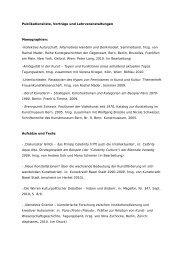 Publikationsliste, Vorträge und Lehrveranstaltungen - Institut für ...