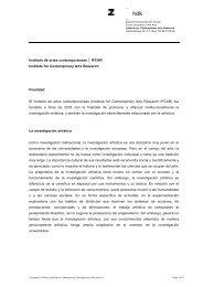 Instituto de artes contemporáneas IFCAR Institute for Contemporary ...