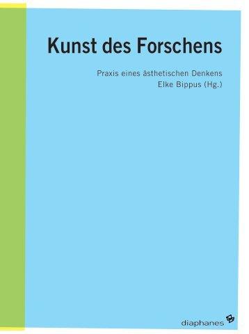 Kunst des Forschens - Institut für Gegenwartskunst
