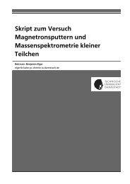 Skript zum Versuch Magnetronsputtern und Massenspektrometrie ...