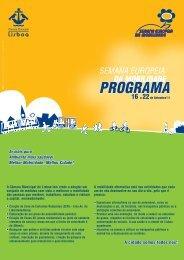 Programa de Actividades em Lisboa
