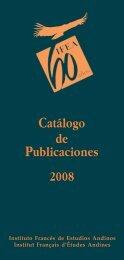 CATáLOGO - Instituto Francés de Estudios Andinos