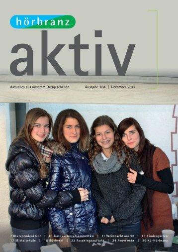 Aktuelles aus unserem Ortsgeschehen Ausgabe 184 | Dezember 2011