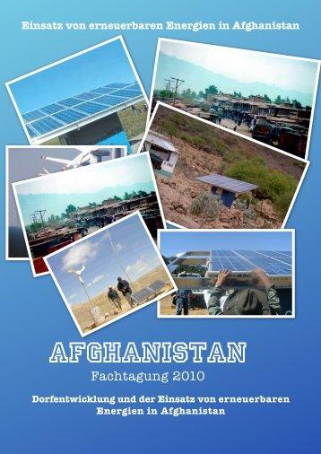 Einsatz von erneuerbaren Energien in Afghanistan - IFEED