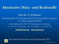 Klicken Sie hier für Prof. El Bassam's Präsentation...... (PDF ... - IFEED