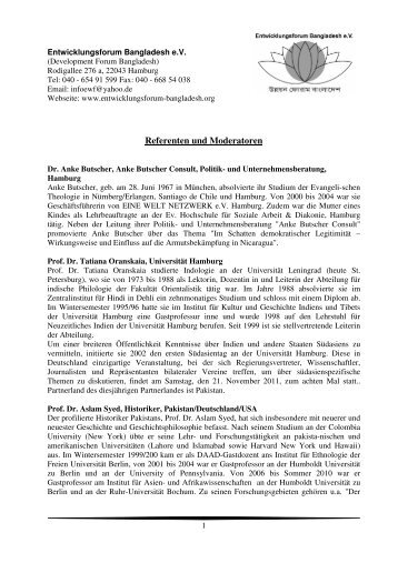 Referenten und Moderatoren - IFEED
