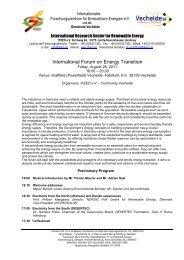 International Forum on Energy Transition - IFEED