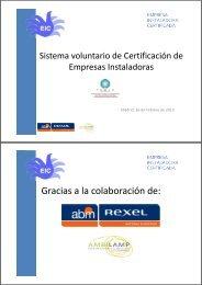 Certificación voluntaria de empresas instaladoras - Ifema