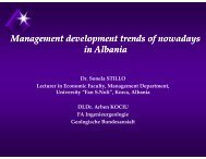 Management development trends of nowadays in Albania