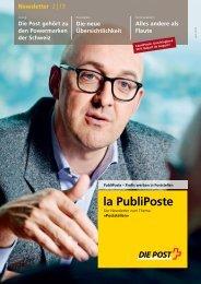 Newsletter La PubliPoste 2/13Link wird in einem - Die Post