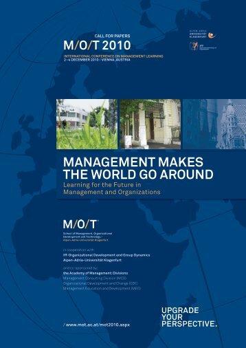 ManageMenT Makes The WOrlD gO arOunD