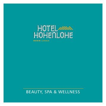 BEAUTY, SPA & WELLNESS - Hotel Hohenlohe
