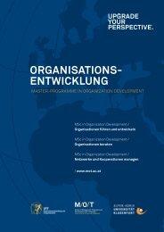 ORGANISATIONS- ENTWIcKLUNG - Fakultät für Interdisziplinäre ...
