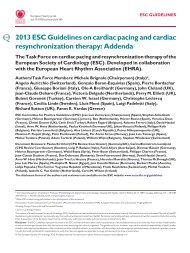 Addenda ESC Guidelines on Cardiac Pacing and CRT - European ...