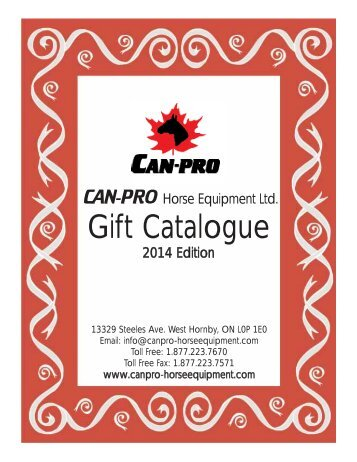 Gift Catalogue - Can-Pro Horse Equipment