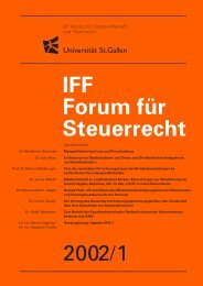 Massgeblichkeitsprinzip und Privatisierung - IFF - Universität St.Gallen