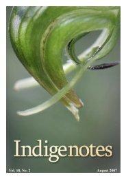 Vol. 18, No. 2 August 2007 - Indigenous Flora and Fauna Association