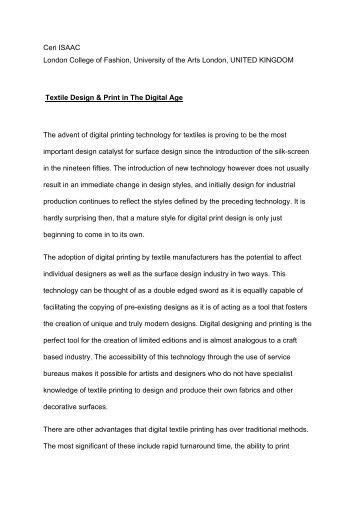 Textile Design & Print in The Digital Age - International Foundation ...