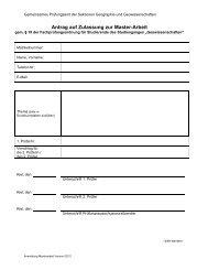 Formular zur Anmeldung der Masterarbeit