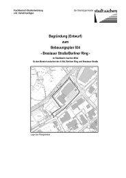 (Entwurf) zum Bebauungsplan 934 - Breslauer ... - Stadt Aachen
