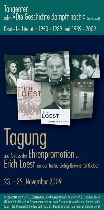Tangenten oder >Die Geschichte dampft noch< (Erich Loest ...