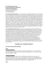 Pełny wykaz publikacji - Instytut Filologii Germańskiej - Uniwersytet ...