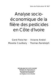 Analyse socio- économique de la filière des pesticides en Côte d'Ivoire