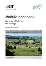 Module handbook - Institut für Geographie und Geoökologie - KIT