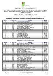Resultado Preliminar da Prova Discursiva - Instituto Federal Goiano