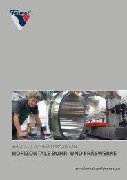 horizontale bohr- und fräswerke - GEMAG Werkzeugmaschinen AG