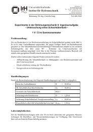 Institut für Hydromechanik Universität Karlsruhe