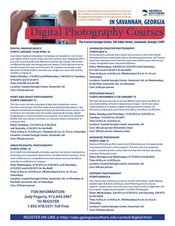 Digital Photography Courses - Georgia Southern University ...