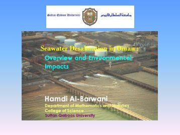 Seawater desalination in Oman: Overview and environmental ... - IfH
