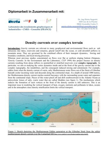 Density currents over complex terrain - IfH