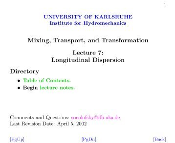 Longitudinal Dispersion - IfH