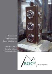 Spannwürfel Spannpaletten Kundenspezifisches Clamping towers ...