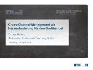 Cross-Channel-Management als Herausforderung für ... - IFH Köln