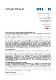 Pressemeldung zum Download - IFH Köln