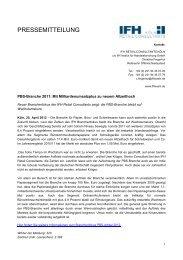 Mit Milliardenumsatzplus zu neuem Allzeithoch - IFH Köln