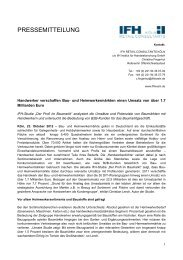 Handwerker verschaffen Bau - IFH Köln