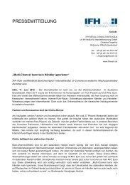 Multi-Channel kann kein Händler ignorieren - IFH Köln