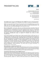 Geschäftskunden sorgen für 870 Milliarden Euro B2B-E ... - IFH Köln