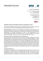 Apotheken leisten durchschnittlich 18 Nacht- und ... - IFH Köln