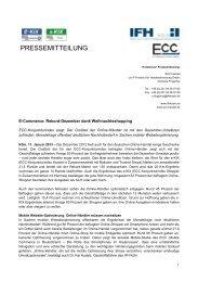 E-Commerce – Online-Shopper steigern Ausgaben zum ... - IFH Köln