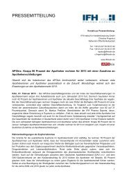 APOkix: Knapp 80 Prozent der Apotheker rechnen für ... - IFH Köln