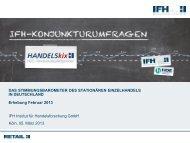 HANDELSkix-Ergebnisse Februar 2013 - IFH Köln