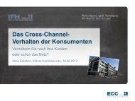 Vortragscharts von Aline Eckstein zum Download - IFH Köln