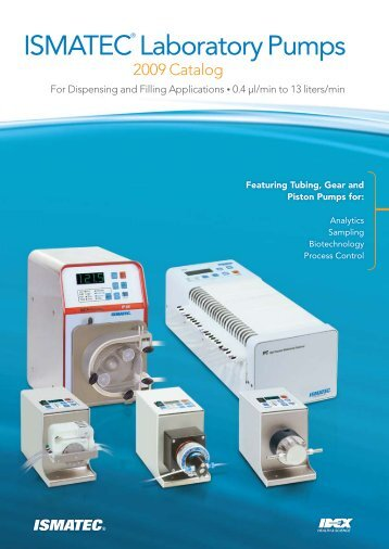 ISmAtEC® Laboratory Pumps - Bennett Scientific