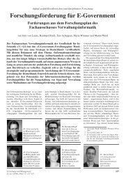 'Forschungsförderung für E-Government. Forderungen aus dem ... - ifib